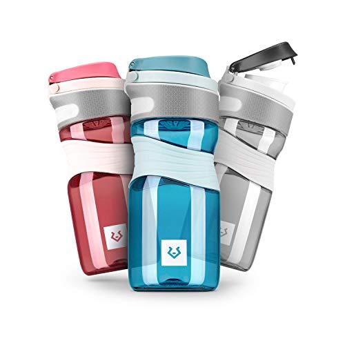 Alphatrail Botella Agua Tritan Cody 450ml Azul I 100% Prueba de Fugas I sin BPA & Ecológicamente I Seguro Lavavajillas I para una hidratación óptima en la Vida Diaria