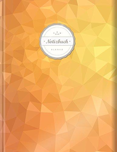 """Blanko Notizbuch (©Star, A4, 156 Seiten, Softcover)    Mit Register + Seitenzahlen    Leeres Notizheft zum Selbstgestalten, Zeichenbuch, Skizzenbuch, Blankobuch, Malbuch """"Warmes Orange"""""""