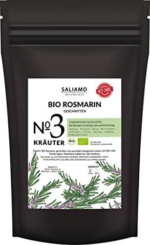 BIO Rosmarin getrocknet, intensives Aroma, auch als Rosmarin Tee, als Pizza und Nudel Sauce Gewürz, mediterranes Gewürz | Saliamo