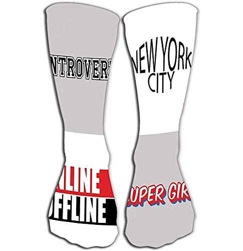 Outdoor Sports Mannen Vrouwen Hoge Sokken Stocking typografie slogan printen grafische bedrukte set Tegel lengte 19.7