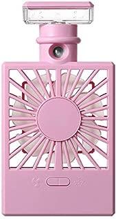 SHANGRUIYUAN-Mini Fan Multifunction Humidifying Mini Electric Fan, USB Charging Handheld Light Spray Portable Fan (Color : Purple)