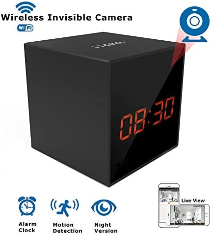 LIZVIE HD Wireless WiFi Spy Hidden Clock Camera Auto Night Vision Camera Motion Detection Invisible product image