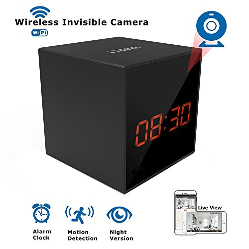 LIZVIE HD Wireless Spy Clock Camera- Auto Night Vision Camera,Motion Detection Invisible Cam,Home Security Monitor Alarm Clock Camera (Basic Model)…