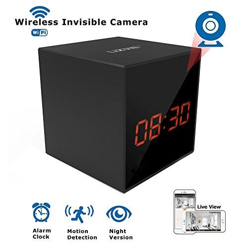 LIZVIE HD Wireless WiFi Spy Hidden Clock Camera- Auto Night Vision Camera,Motion Detection Invisible Cam,Home Security Monitor Alarm Clock Camera New York