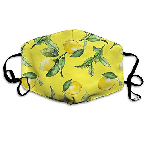 Zitronen Aquarell Muster Gesichtsabdeckung Mundabdeckung