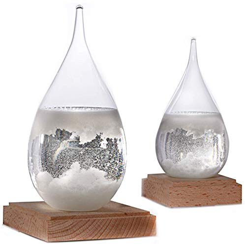 Constantinople Storm Glass Weather Predictor - Weather Glass Predictor 2 in 1 Set | Unique Office and Home Decor | Weather Predicting Storm Glass | Large and Small Decorative Weather Forecaster Glass