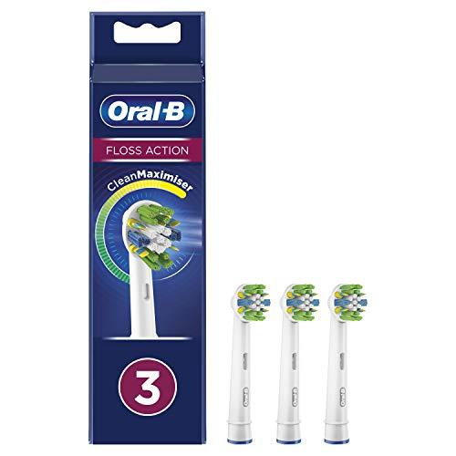 Oral-B FlossAction - Accesorio De Cepillo Con Tecnología CleanMaximiser - 3 Piezas