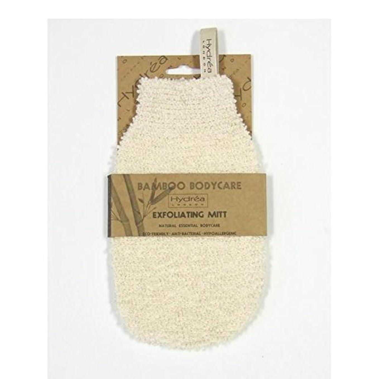 猫背表面剣ハイドレアロンドン竹エクスフォリエイティングミット、ソフト/ミディアムテクスチャー x4 - Hydrea London Bamboo Gentle Exfoliating Mitt, Soft/Medium Texture (Pack of 4) [並行輸入品]