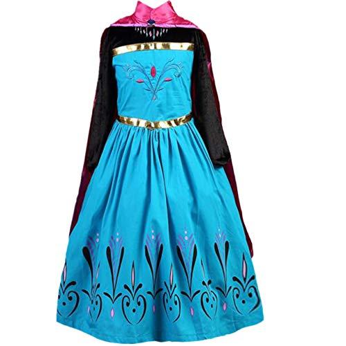 LOBTY Princesa Disfraz Traje Parte Las Niñas Vestido Niña Princesa Anna Disfraz Fiesta de Cosplay Vestido Princesa de la Nieve Vestido Infantil Princesa de Niñas para