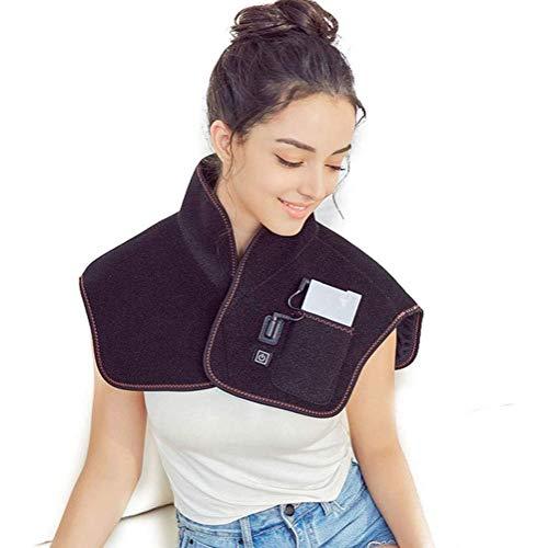 LMCLJJ Große Heizkissen for Rücken und Schultern Schmerzlinderung, Sable Heizung Wrap for Hals mit Auto-Abschaltung Temperatureinstellungen