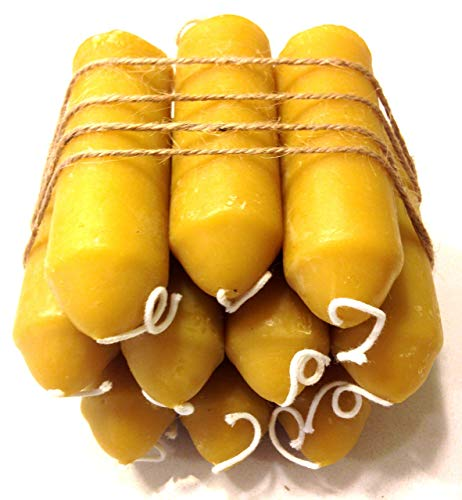 Beeswax Candles - Fits UCO Lantern - 10 Pack, 36 Hours - 100% Pure Bees Wax - 12 Hours Each - Unscented - All Natural Light Honey Scent (10 Pack)