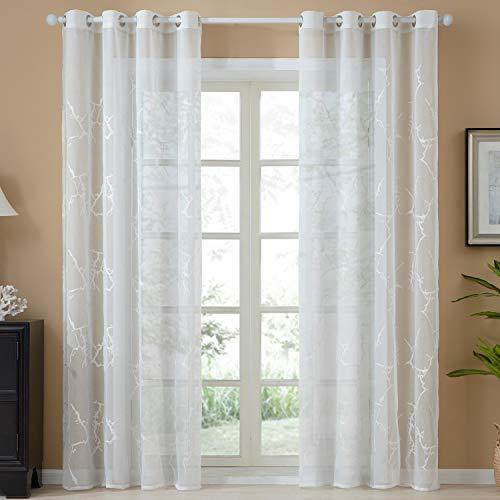 cortinas salon poliester bordado