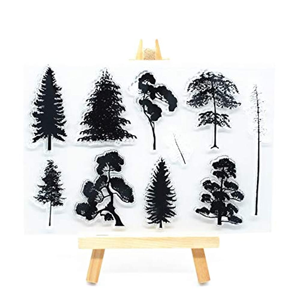 Welcome to Joyful Home 1pc Tree Rubber Clear Stamp for Card Making Decoration and Scrapbooking