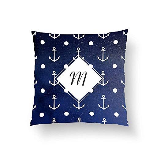 Zipper gedrukt kussen, draagbaar nautisch patroon textuur kussen naar huis sofa beddengoed kussen 26 x 26 inch ZHFZD