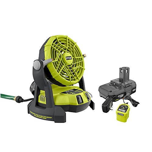 RYOBI 18-Volt ONE+ Bucket Top Misting Fan Kit