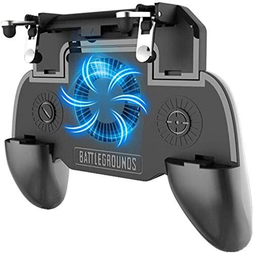 King Bomb El botón de disparo rápido 4 en 1 ayuda al tablero de juego móvil a activar el juego L1R1 Cooling Joystick. Batería incorporada de 2000 mah. Adecuado para teléfonos móviles de 4-6.3 pulgadas