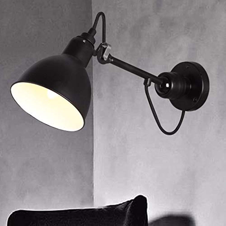 StiefelU LED Wandleuchte nach oben und unten Wandleuchten Restaurant wall Light Industrial Falten einziehbaren Wandleuchte, schwarz