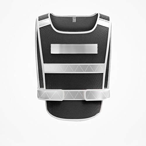 Veiligheidsvest Reflecterende Kleding Veiligheid Vesten Regenjas Reflecterende Veiligheid Kleding Zichtbaarheid Taillejas Veiligheid Nacht Bouwveiligheid Reflecterende Vest (Kleur : Zwart)
