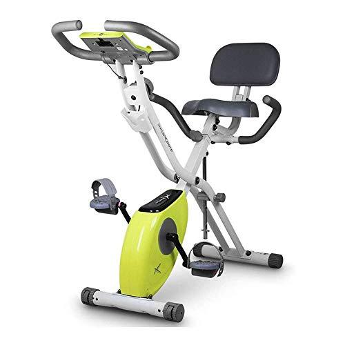 WJFXJQ Plegable Bicicleta estática, magnético Vertical Cubierta Ciclo de la Bici con 8 Niveles de Resistencia, Monitor de la caloría, hogar Máquinas de Ejercicios de Cardio