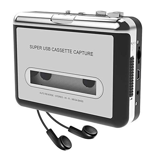 Docooler Tragbare Kassettenspieler - Portable Tape Player Captures Kassettenrekorder über USB - für Laptops und PC - konvertieren Walkman Tape Kassetten in MP3/CD mit Kopfhörer