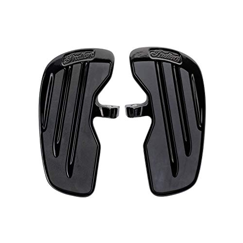 Indian Motorcycle Rider Floorboards with Inlays in Gloss Black, Pair - 2883056-658