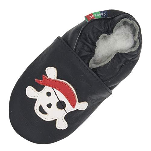 xingxing Zapatillas de piel suave para bebés y niños de primera caminata, zapatos para niños (color: Jolly Black S, talla de zapato: 7)