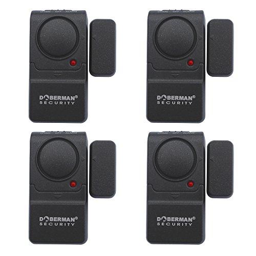 DOBERMAN SECURITY Door & Window Mini-Alarm – Compact Design Fits on...
