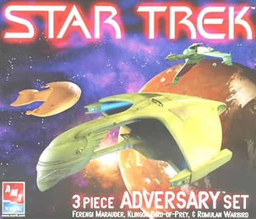 Star Trek 3 Piece Adversary Set - Marauder, Bird of Prey, Warbird