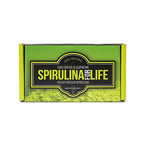 Spirulina 7 Stick Pack 7 Day Supply Spirulina Live Flash Frozen 100% Pure Grown in Alkaline Water Grown, Harvested and Frozen in The USA Most Complete Super Food and Natural Multivitamin