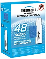 Thermacell - Recambio Anti Mosquito, Pack de 48 horas de protección; Incluye 12 pastillas con repelente, 4 cartucho de gas, Compatible con todos los aparatos THERMACELL