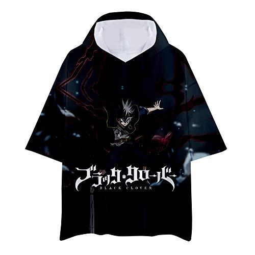 Black Clover Camiseta Versión Coreana Suelta Camiseta Deportiva de Manga Corta para Hombre Camiseta de Entrenamiento Gimnasio Ropa de Verano Tops Unisex