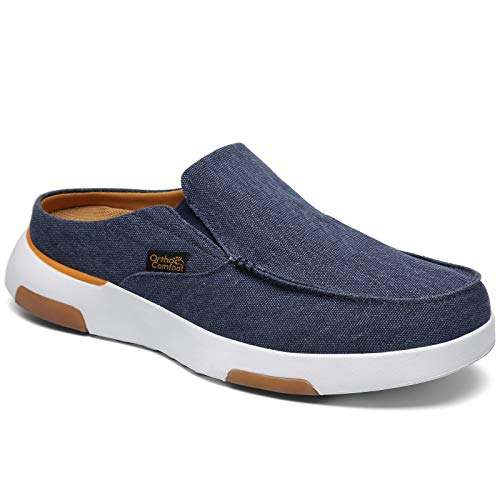 Canvas Shoes for Men,Orthopedic Casual Sneakers for Overpronation,Leisure Vintage Flat Boat Shoes ZGBXOF03B-W1-12
