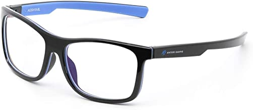 Shroud Gaming Glasses by AVATUDE Gaming (PLUS Hard Case & Cleaning Cloth) (Frostbite Blue)