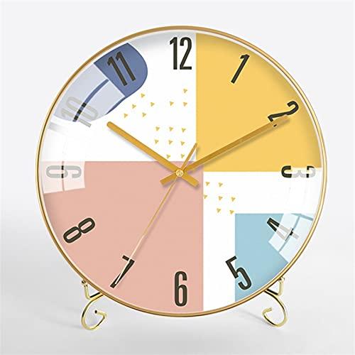 Reloj nórdico 12 pulgadas adornos hogar reloj reloj sala de estar reloj reloj metal reloj de cuarzo niños personalidad reloj despertador cumpleaños industrial cumpleaños presente noche luz porche ofic