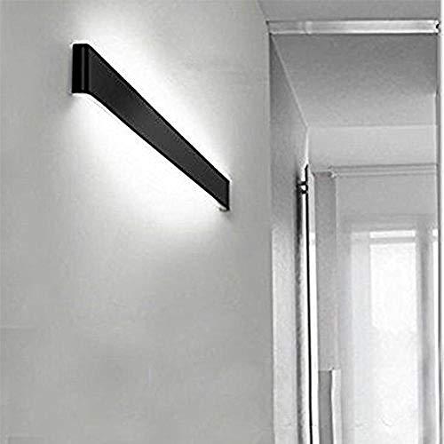 Lampada a LED da parete superiore e inferiore, lampada da parete per interni, luce bianca calda, 3000 K, lampada da bagno, impermeabile, 30 W, bagno, camera da letto, soggiorno, scale. UNA