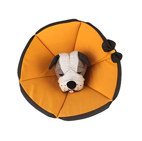 Luckylele Haustier-Erholungskragen-Katzenhund-Comfy-Kegel-Erholungskragen-Haustier-Wundheilung Kopfkegel Anti-Biss-Lick-Wund-Schutzhals-Kragen Hund und Katze (Size : L)