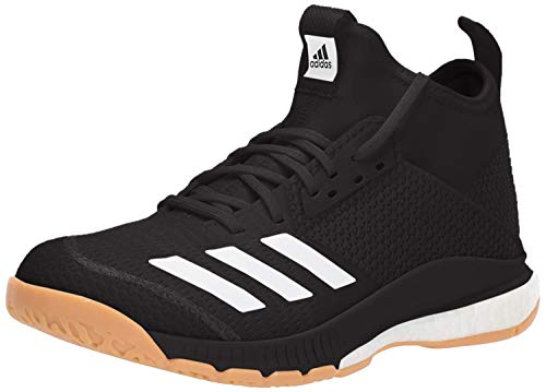 adidas Women's Crazyflight X 3 Mid Volleyball Shoe, Black/White/Gum, 10.5 M US