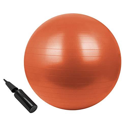 BB Sport Gymnastikball in vielen Farben und Größen Sitzball mit Ballpumpe 85 cm, Farbe:Sporty Orange, Durchmesser:85 cm