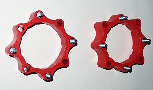 Spurverbreiterungen Quad ATV 156mm - 144mm Lochkreis vorne rot