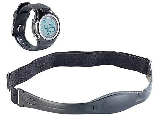 PEARL sports Sport Uhr: Fitness-Pulsuhr, spritzwassergeschützt, inkl. Brustgurt (Fitness-Uhren mit Pulsmesser)