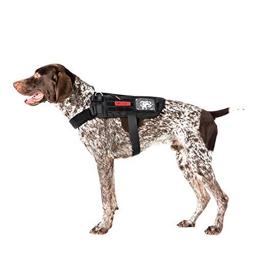 Service Dog Harness No-Pull Dog Harness Adjustable Comfort Pet Dog Vest Harness for Outdoor Walking (Black, Long Version)