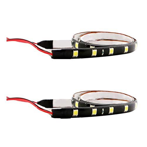 ZHIXX MALL Auto Innenbeleuchtung Atmosphäre Licht,12V 0.25A USB Auto Streifen Licht Leuchten Innenraumbeleuchtung für Auto,KFZ,LKW Innenraum Zubehör,Auto Zierleiste- Weiß 2PCS*30cm