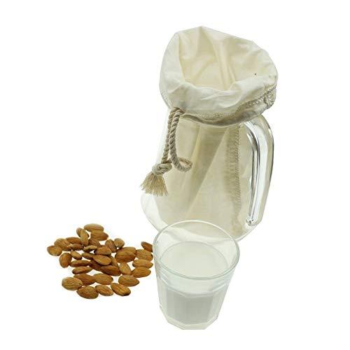 Dreameryoly Entsafter Filter Wiederverwendbare Filterbeutel Joghurt Käse Nuss Milch Tee Kaffee Filterbeutel Baumwollbeutel Jute Beutel Lebensmittelqualität Bio-Baumwolle Material 30X30cm