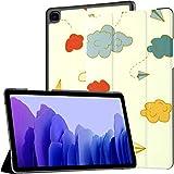 Funda para Samsung Galaxy Tab A7 Tablet 2020 de 10,4 Pulgadas (sm-t500 / t505 / t507), Vector de Patrones sin Fisuras Origami Paper Airplanes Funda de Soporte de múltiples ángulos con activación/su