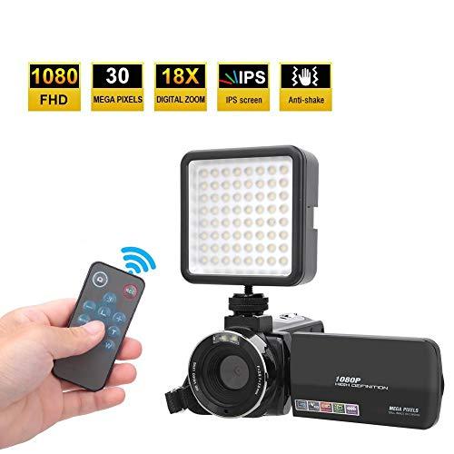 Fantastic Deal! Digital Video Camera, HD 1080P 18X 30MP 3inch LCD Screen Digital Video Camera DV with LED Fill Lights Set