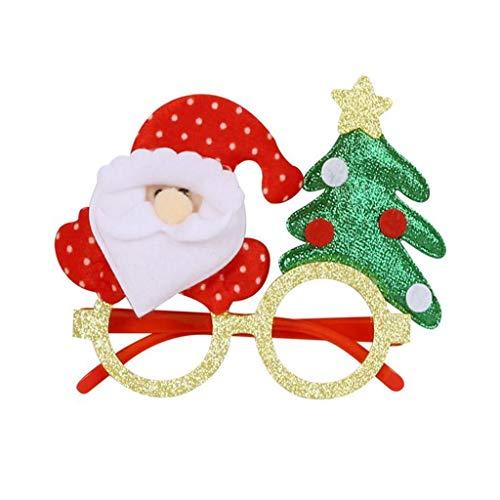 Yue668 - Cristales de decoracin navidea, juguetes para nios, adultos, gafas de decoracin de Navidad