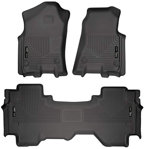 Husky Liners 94011Fits 2019-20 Dodge Ram 1500 Quad Cab Weatherbeater Front & 2nd Seat Floor Mats, Black