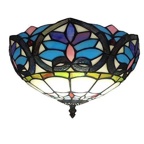 Simplelu Lámpara de techo, luz LED, estilo europeo y americano, retro, color sólido, pastoral, balcón, pasillo, restaurante, hotel, estudio, habitación de cristal, dormitorio