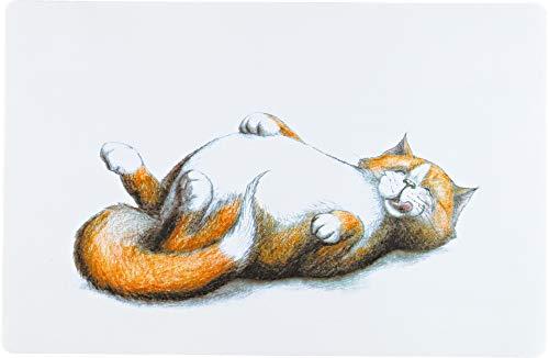 Katzennapf Unterlage Satte Katze, 44 x 28 cm