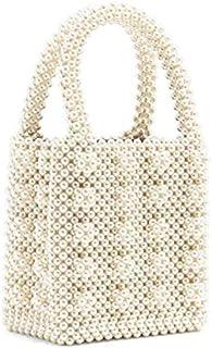 Adebie - Pearls Bag Beaded Box Totes Bag Women Party Vintage Handbag 2019 Summer Luxury Brand White Hand Bag Wholesale Drop Shipping